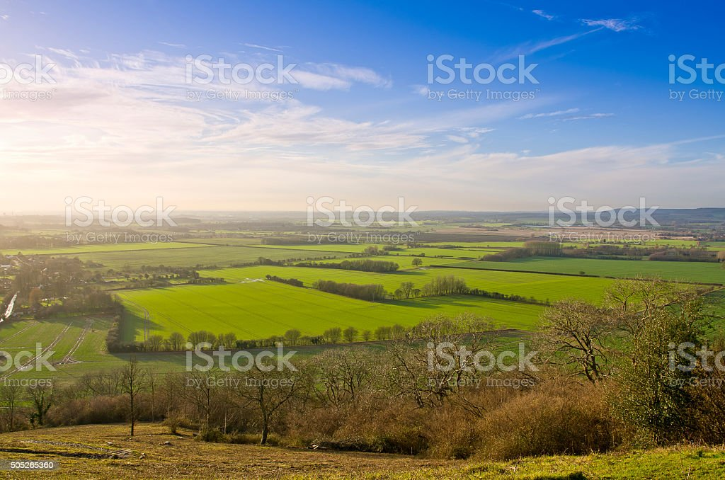 Ashford Kent Countryside Near Wye Village stock photo