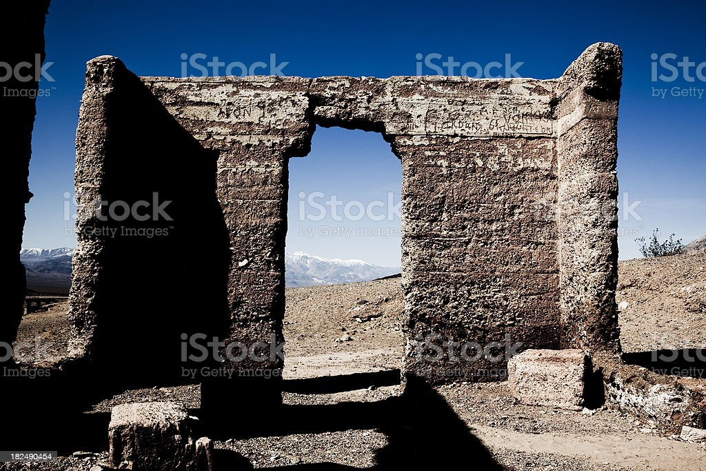 Ashford Mill Ruins in Death Valley stock photo