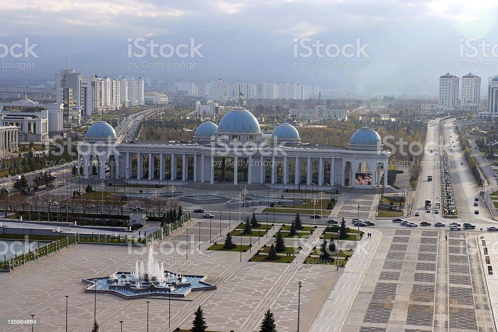 Ashgabad city stock photo