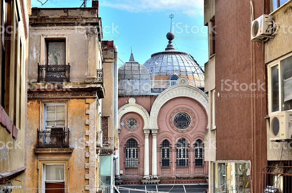 Ashkenazi Synagogue of Istanbul stock photo