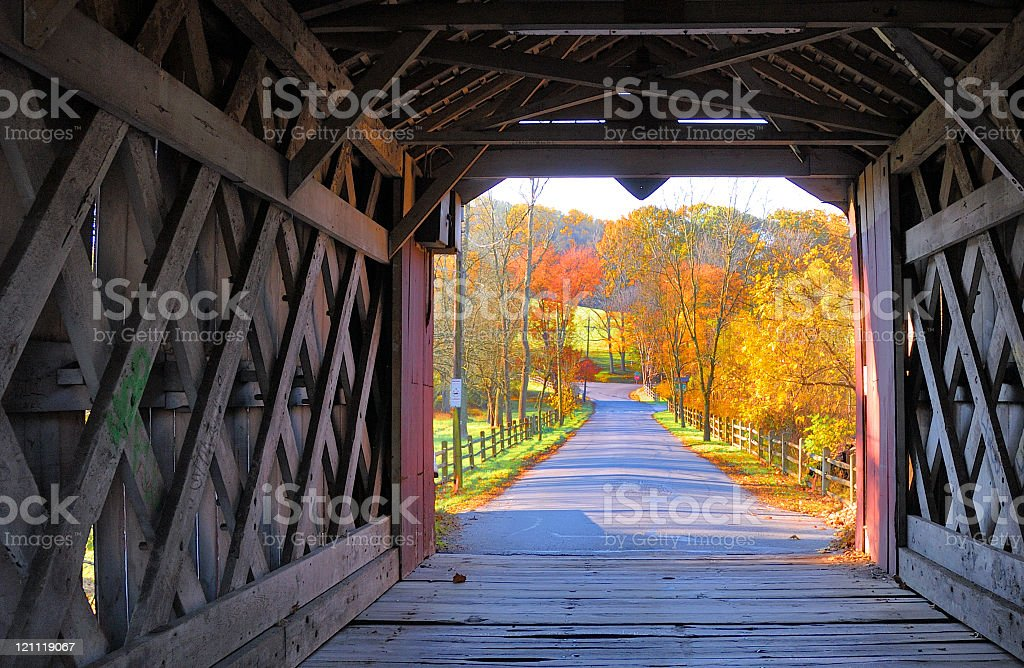 Ashland Covered Bridge - Yorklyn, Delaware stock photo