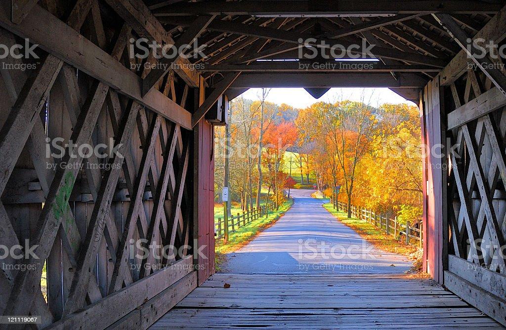 Ashland Covered Bridge - Yorklyn, Delaware stock photo
