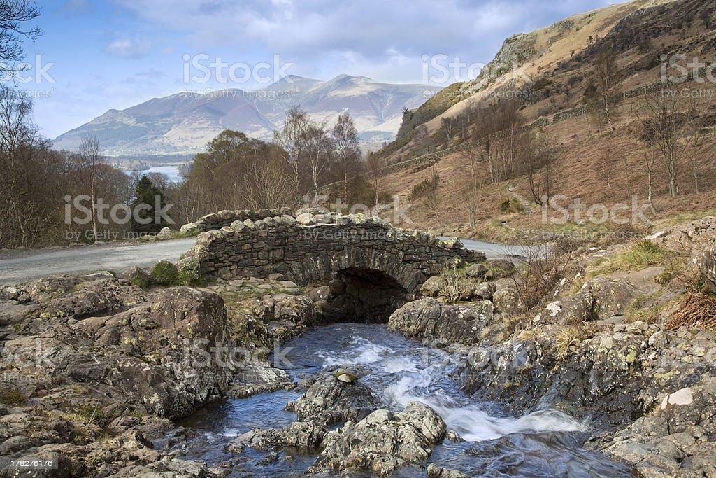 Ashness Bridge, The English Lake District royalty-free stock photo