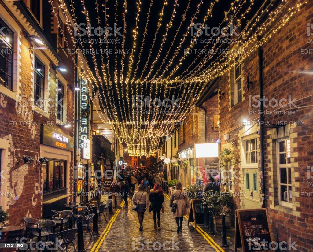 Ashton Lane in Glasgow's West End stock photo