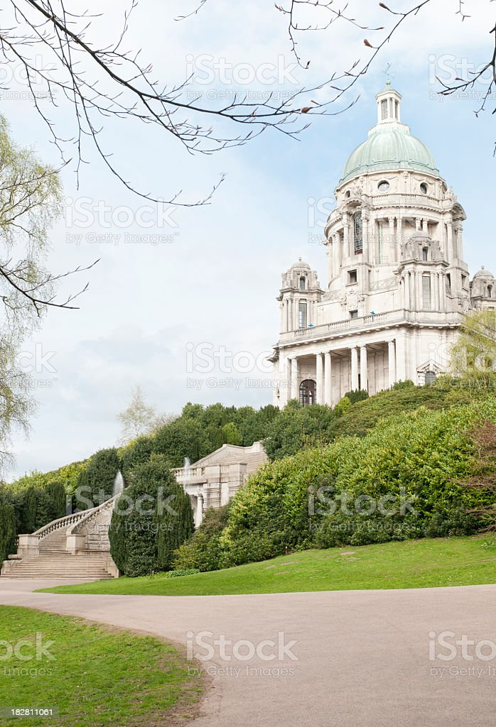 Ashton Memorial in Lancaster stock photo