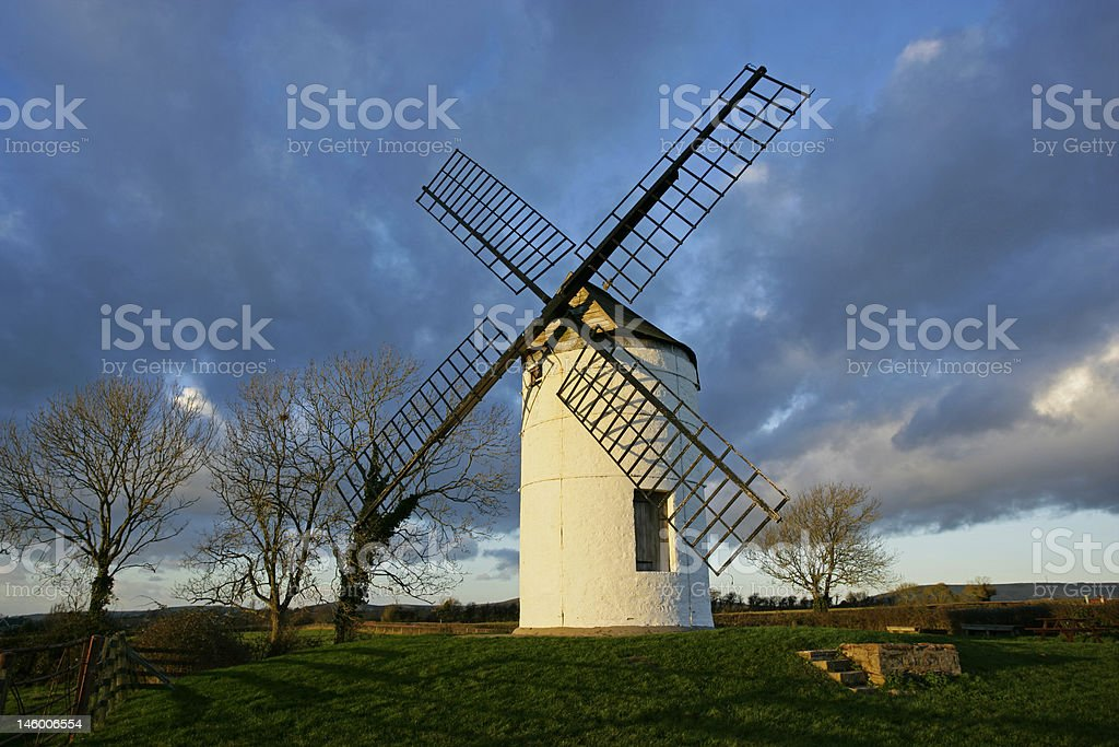 Ashton Windmill, Somerset, England stock photo