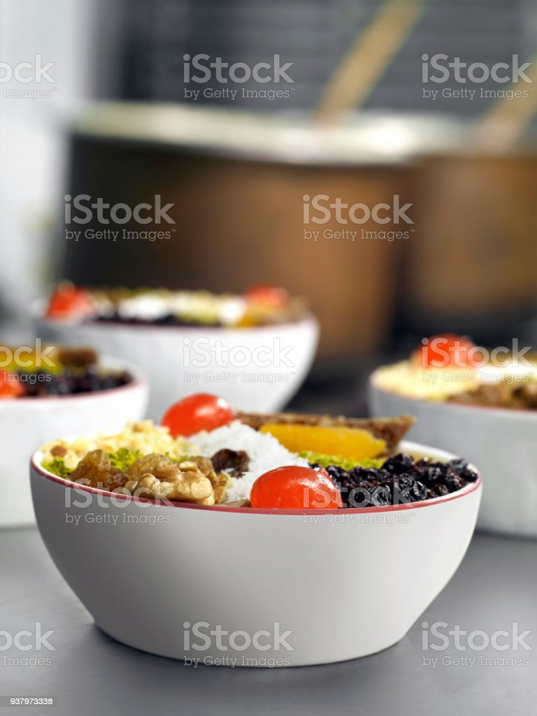 Ashura bowls stock photo
