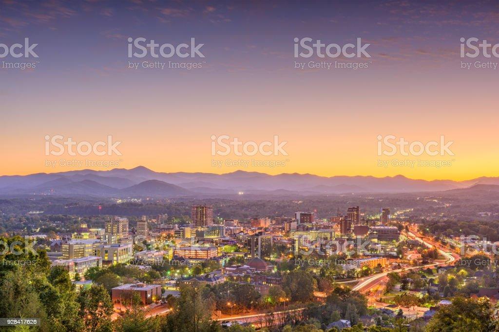 Ashville, North Carolina, USA Skyline stock photo