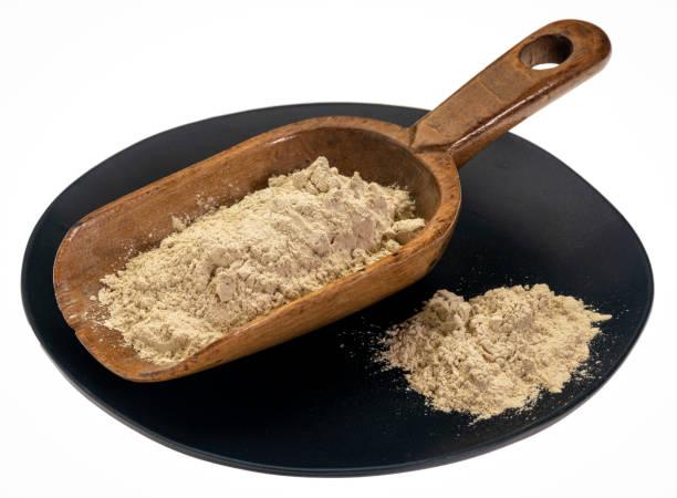 ashwagandha root powder stock photo