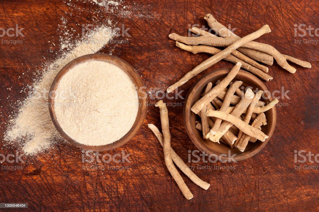 Ashwagandha supplement. stock photo