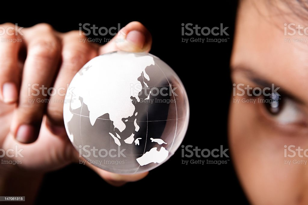 Asia and Australia continent royalty-free stock photo