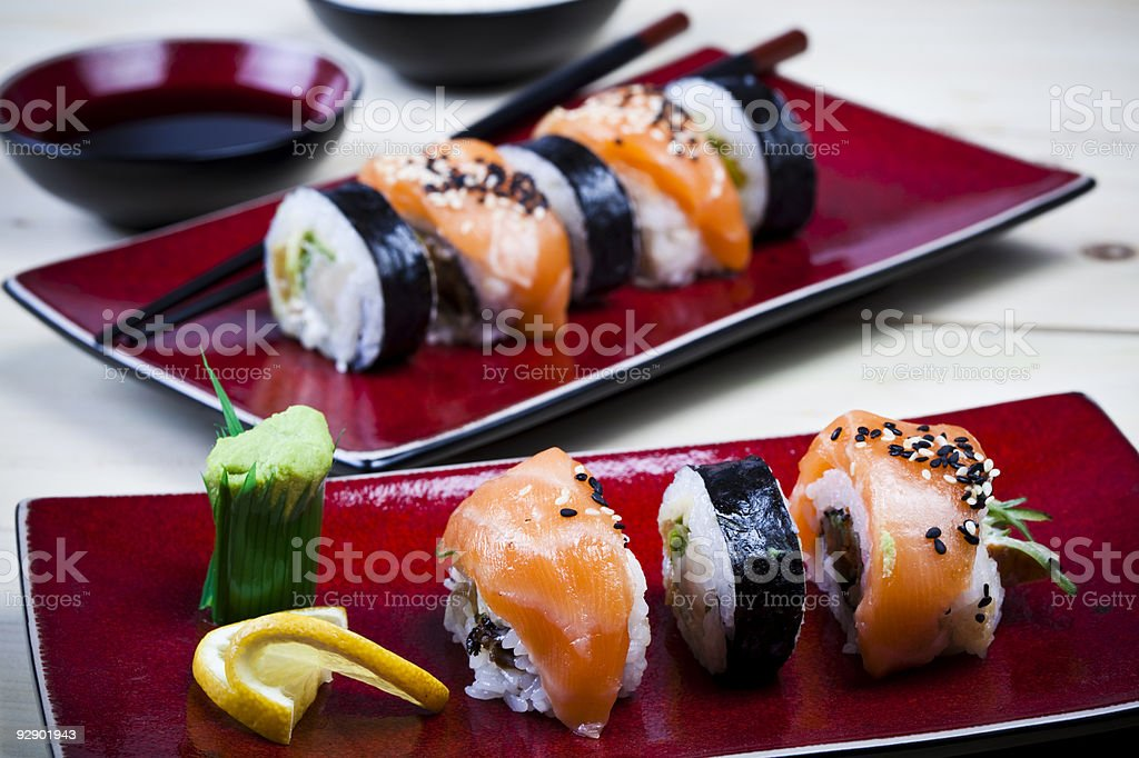 Asia and food on sushi royalty-free stock photo