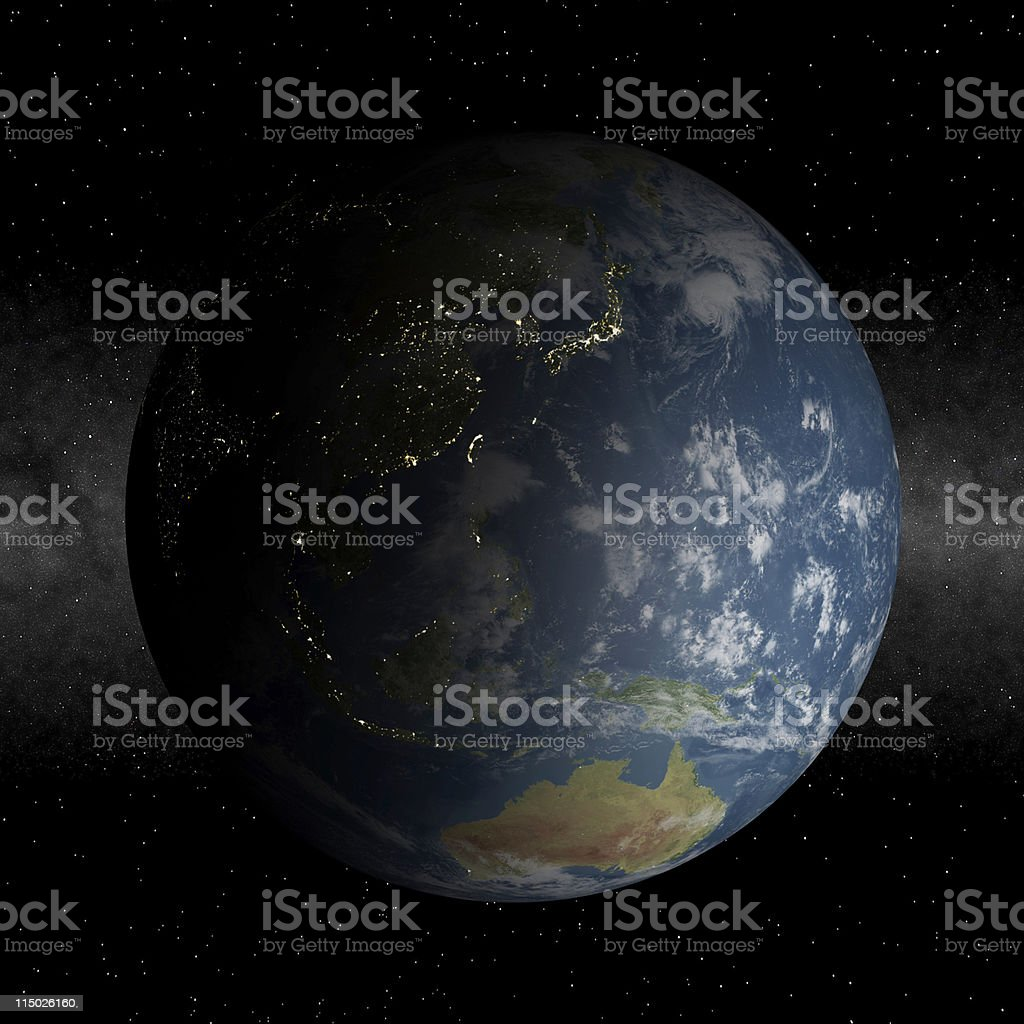 Asia at night royalty-free stock photo