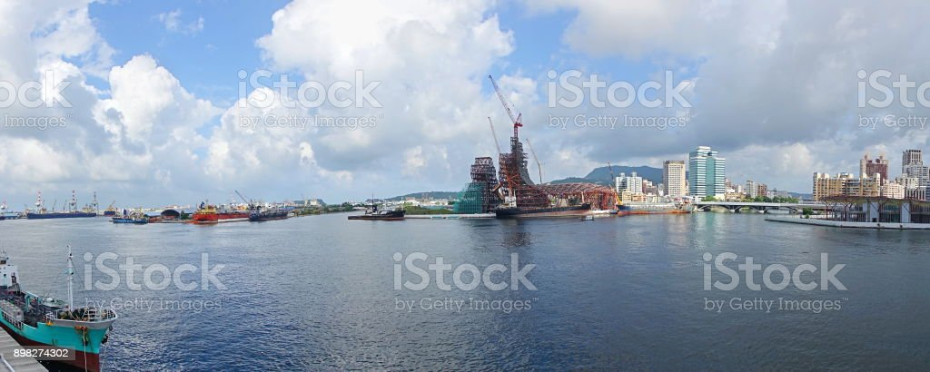 Asia Bay Project and Kaohsiung Port stock photo