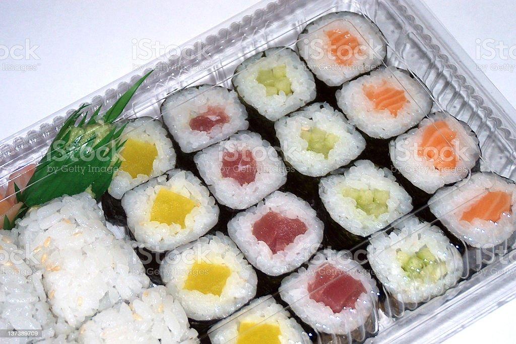 Asia & food: Maki box royalty-free stock photo