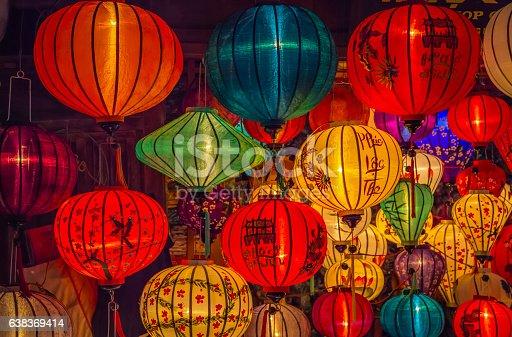 istock Asia lantern in Hoi An city, Vietnam 638369414