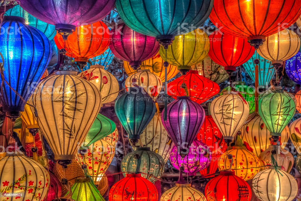Asia lantern in Hoi An city, Vietnam stock photo