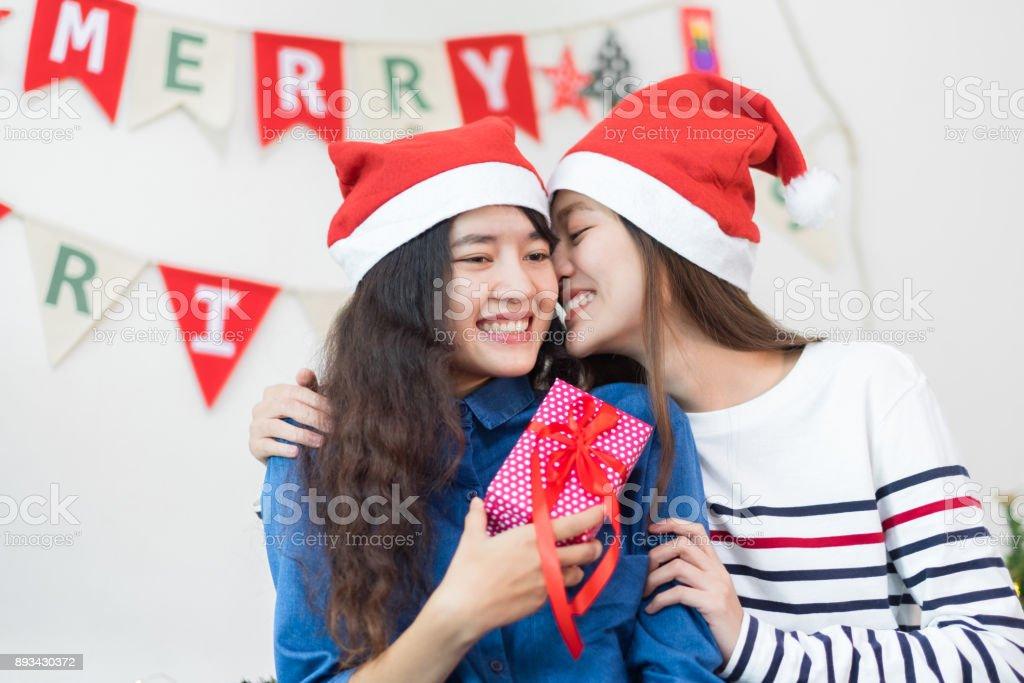 lesbische weihnachten party foto