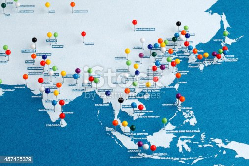 istock Asia Major Cities Map 457425379
