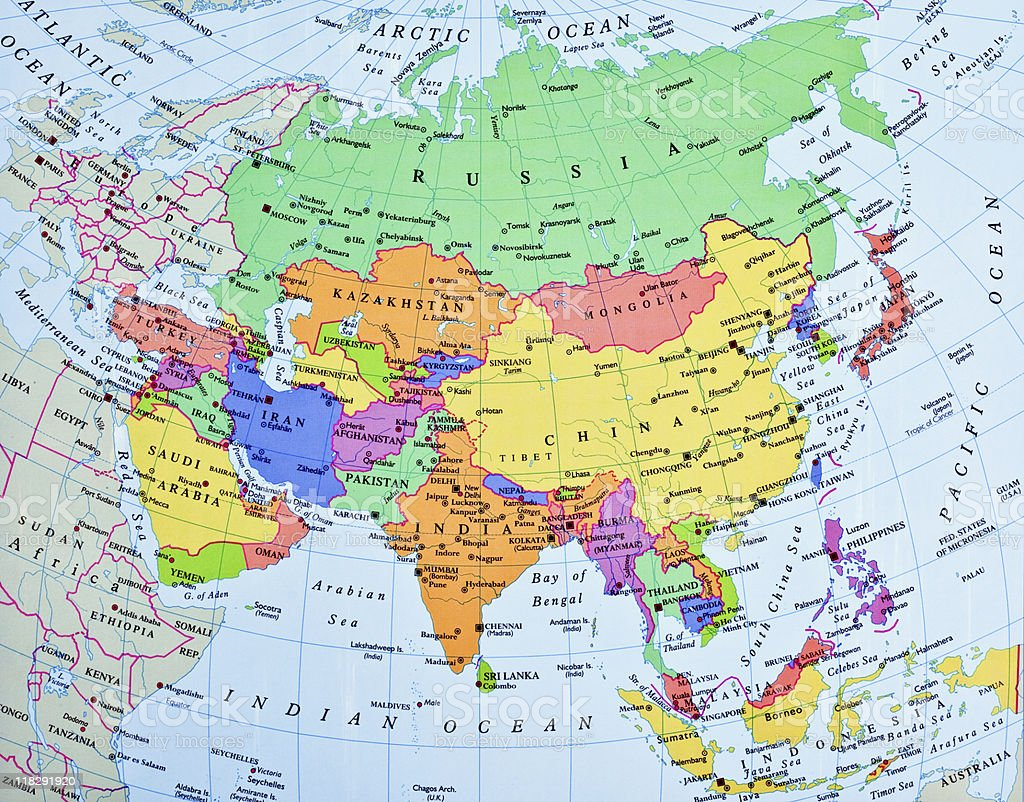 Picture Of Asia Map.Top 60 Asia Map Stock Photos Pictures And Images Istock