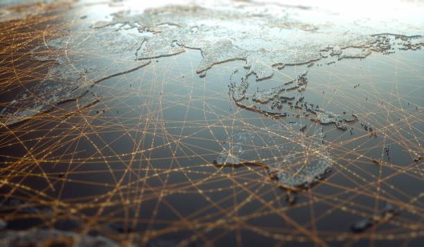 亞洲大洋洲數位技術連接萬維網 - 亞太地區 個照片及圖片檔