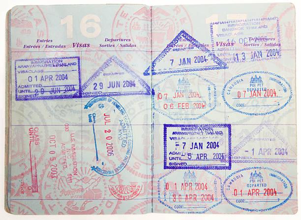 Viajeros de la región de Asia - foto de stock
