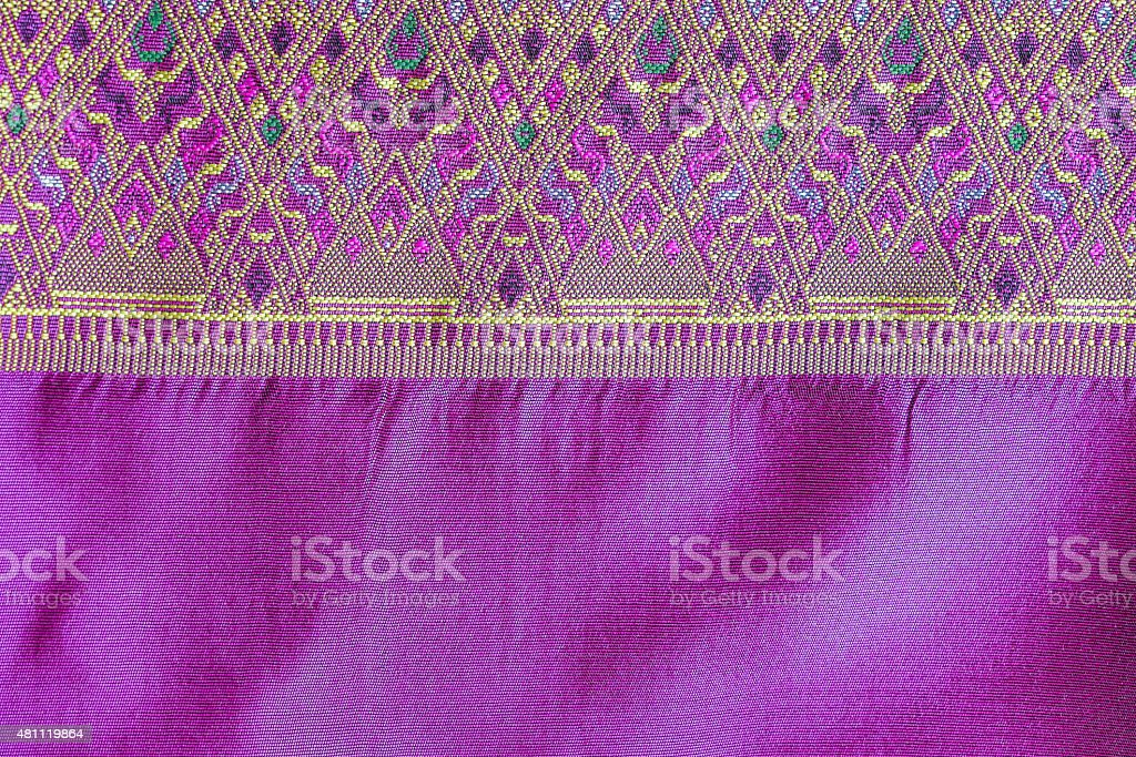 Asia silk fabric pattern background stock photo