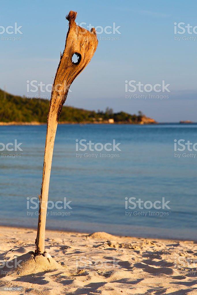 asia sunrise kho playa de rocas caña de los mares del sur - foto de stock