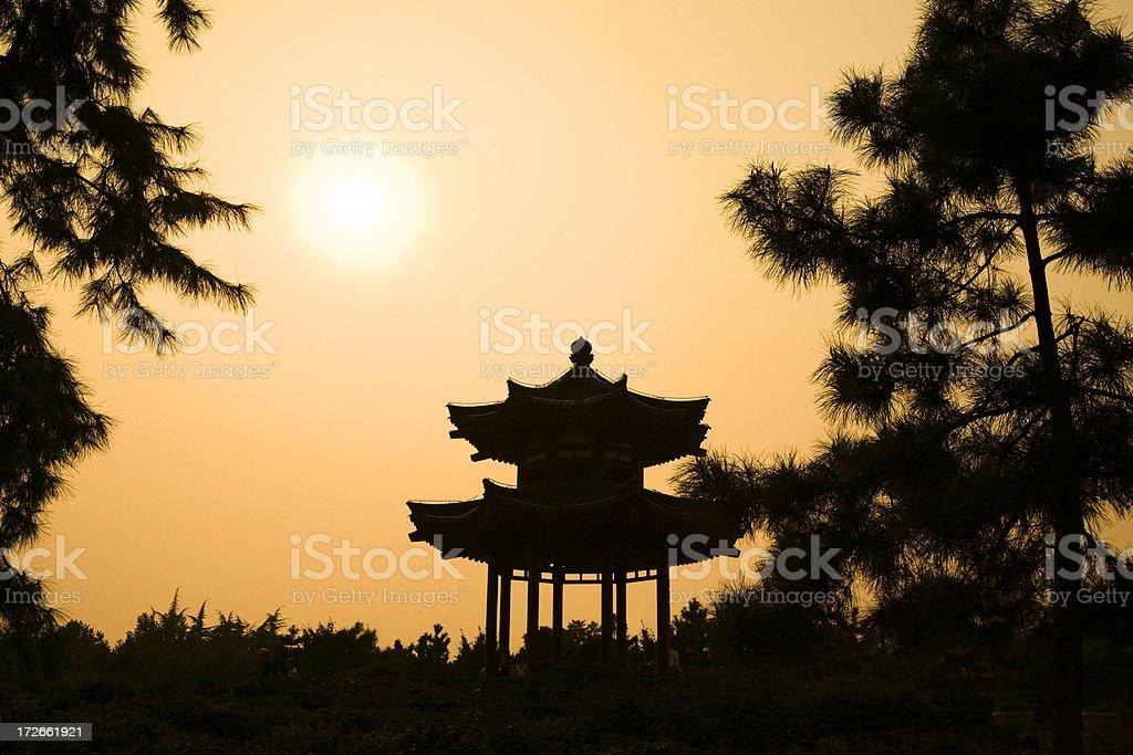 Asia Sunset stock photo