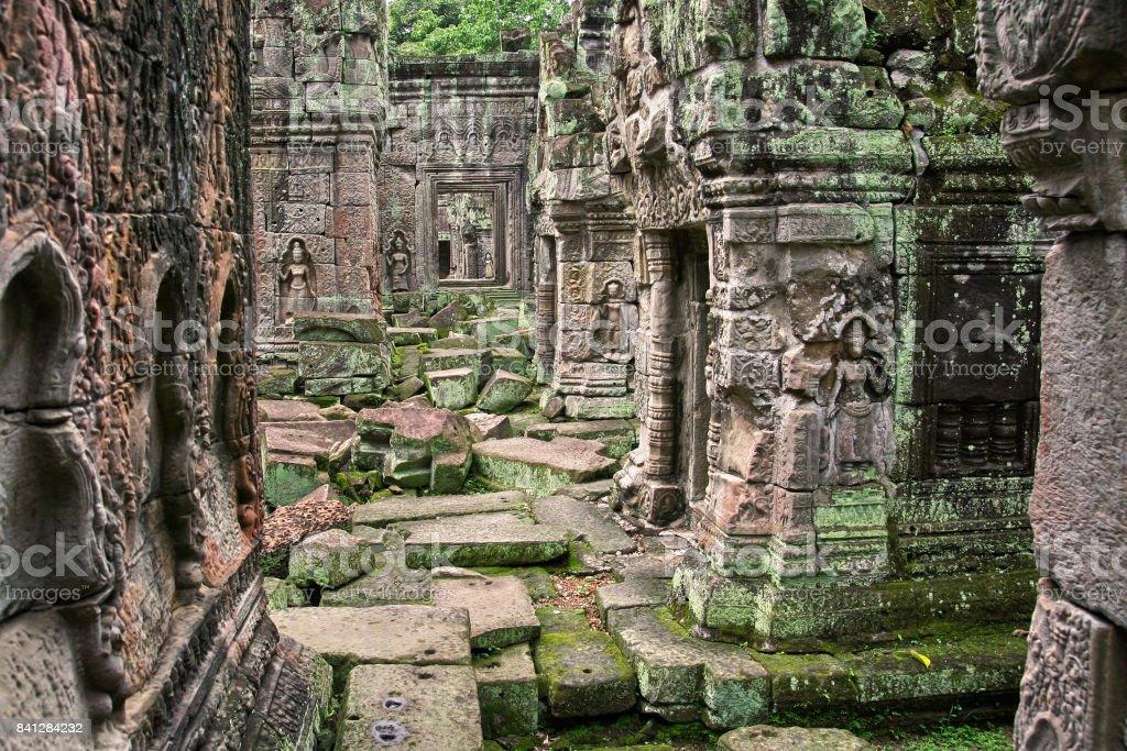 Asia temple ruin stock photo