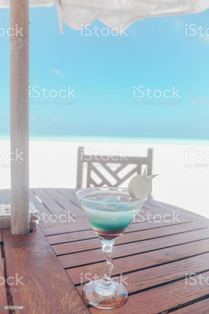 Asia travel series. Beautiful landscape of Maldive islands stock photo