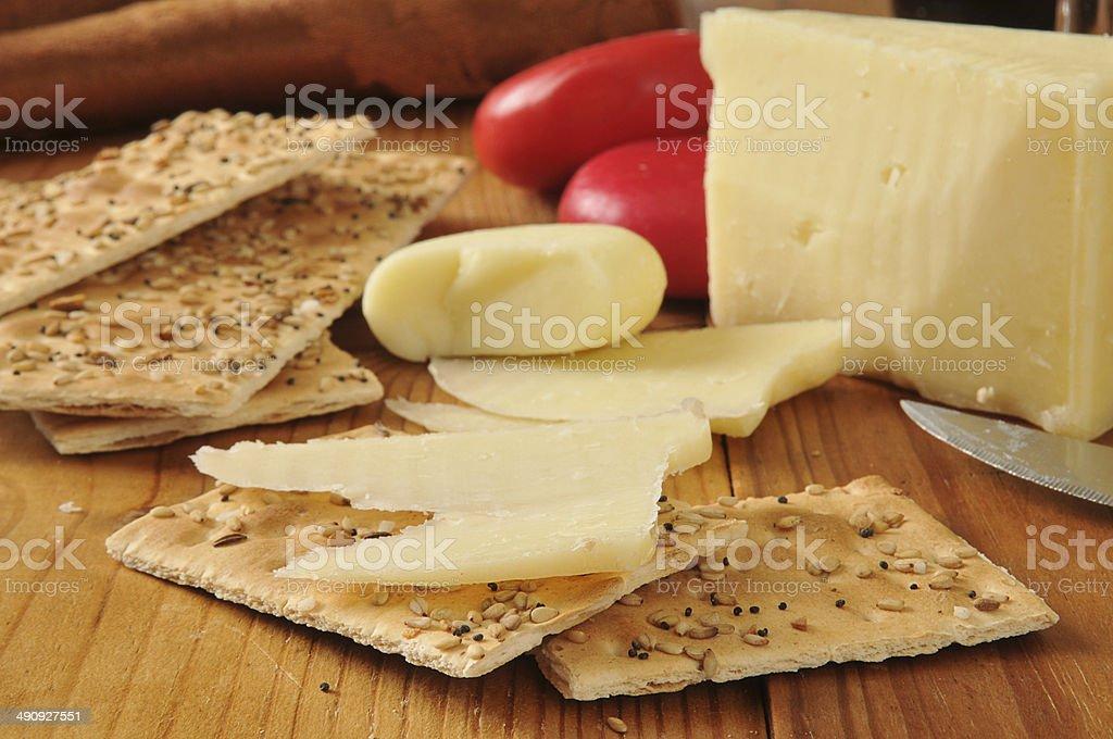 Asiago e gouda formaggi - foto stock
