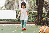 istock Asian 3 year old kid in park. 1288179171