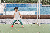 istock Asian 3 year old kid in park. 1288179197