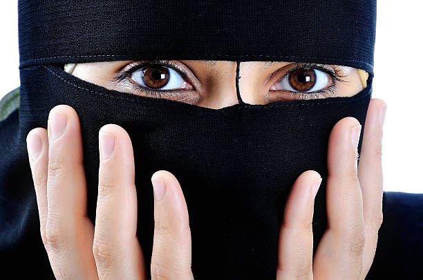 Asian arabic muslim woman with significant clothes stock photo