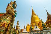 Far East architecture, Grand Royal Palace, Bangkok, Thailand.
