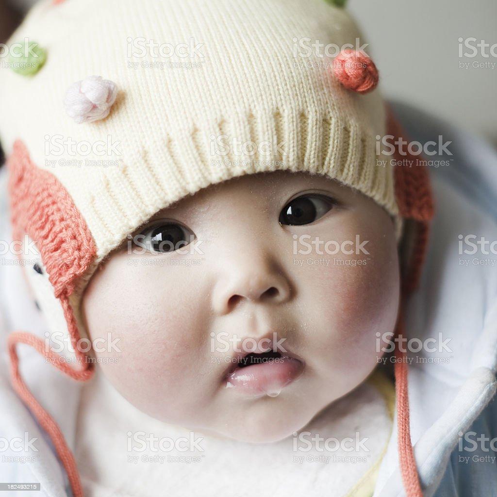 Asian Baby Asking royalty-free stock photo
