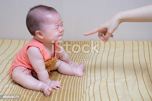 istock Asian baby crying while mother scolding 485948270