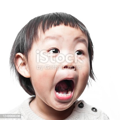 Asian baby girl facial expression