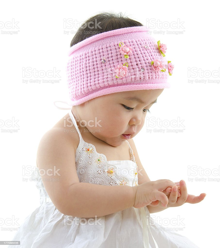 Asian baby girl royalty-free stock photo