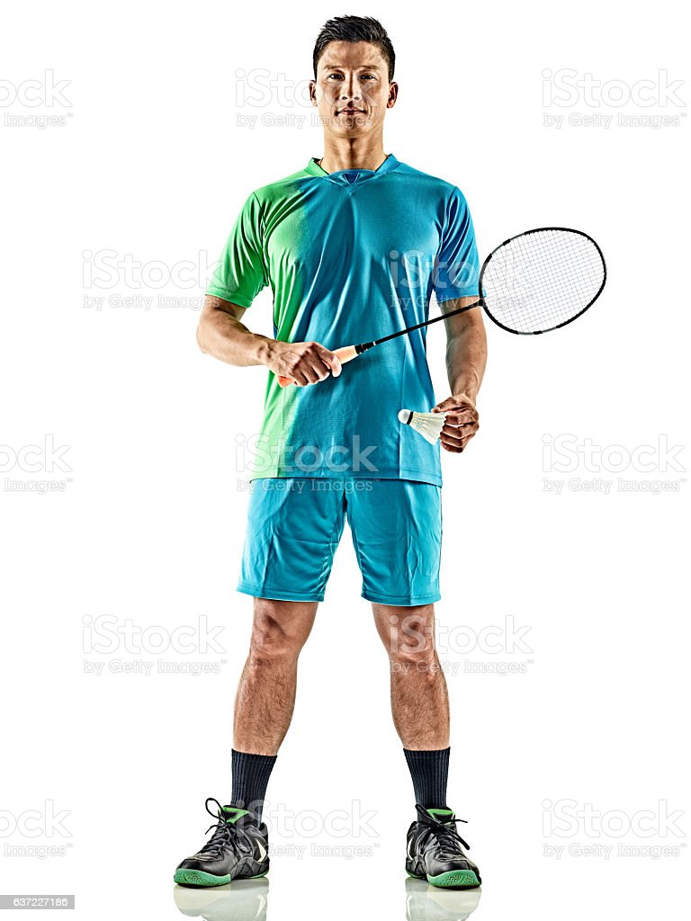 asian badminton player man isolated - Photo
