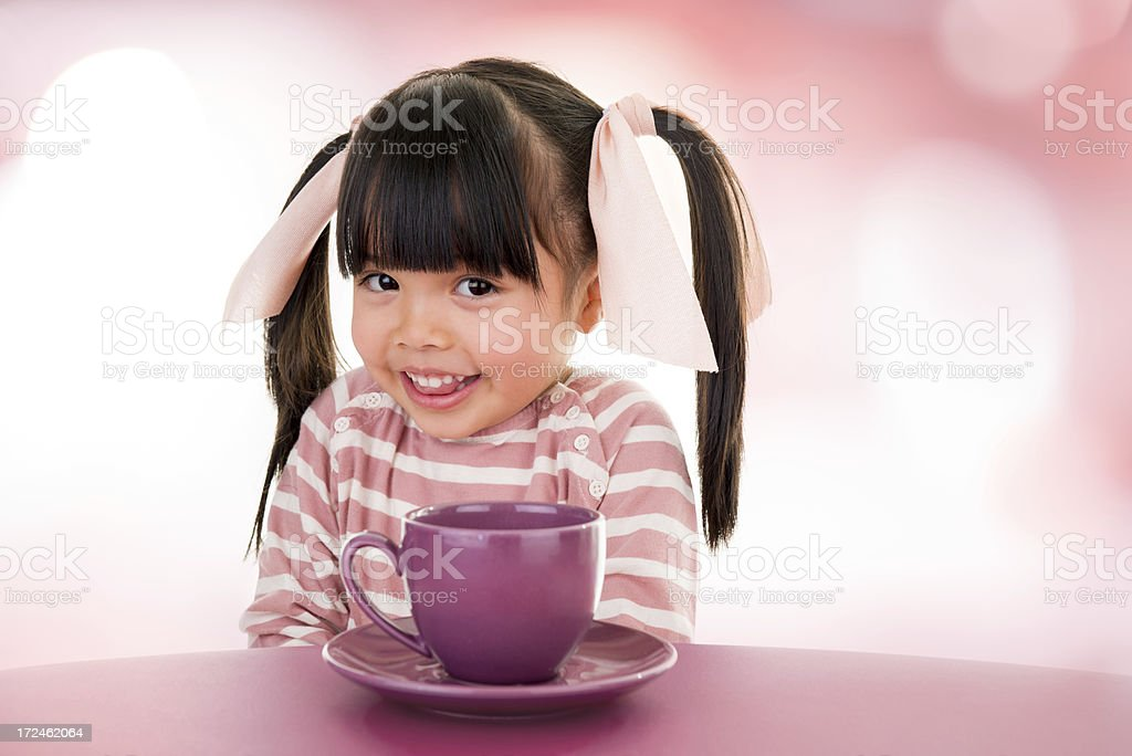 Asian beautiful little girl portrait stock photo