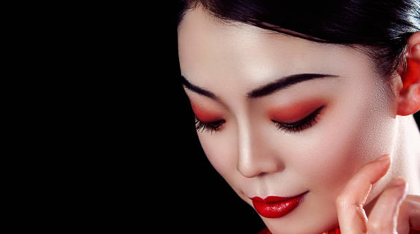 Asian beauty Portrait of a beautiful Chinese girl . geisha stock pictures, royalty-free photos & images