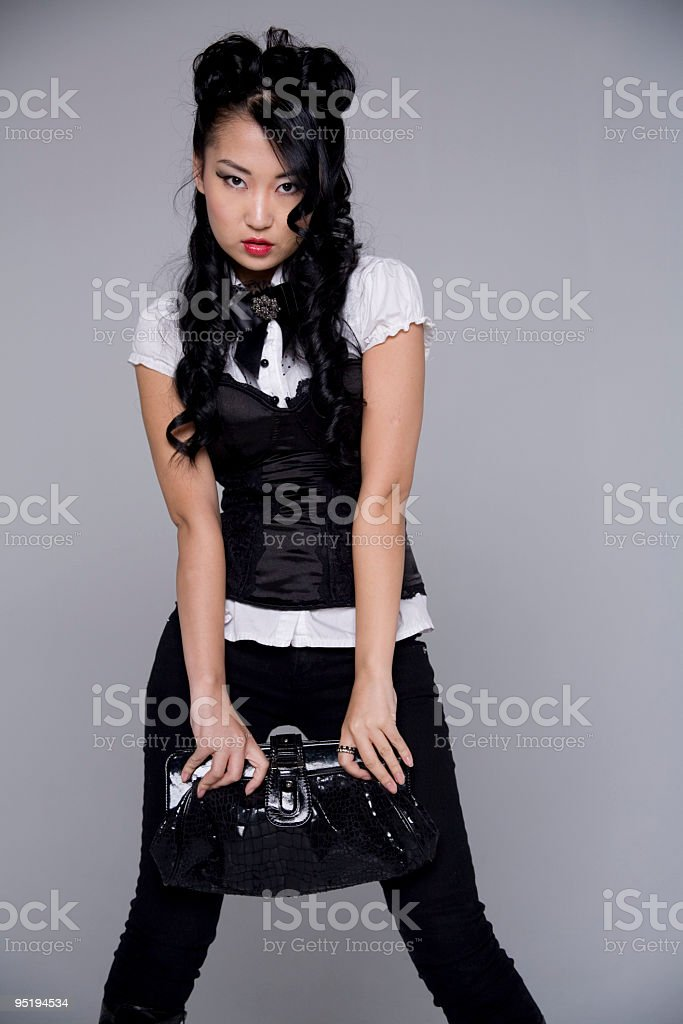 Asian Beauty Posing stock photo