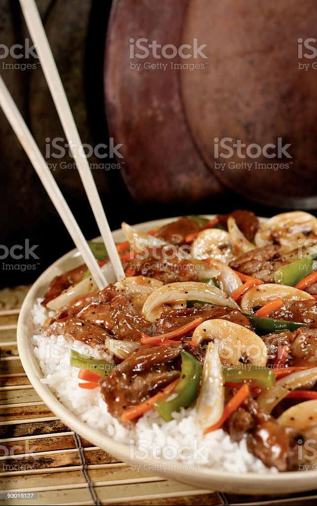 Asian Beef royalty-free stock photo