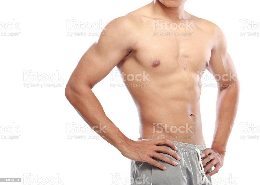 asian bodybuilders stock photo