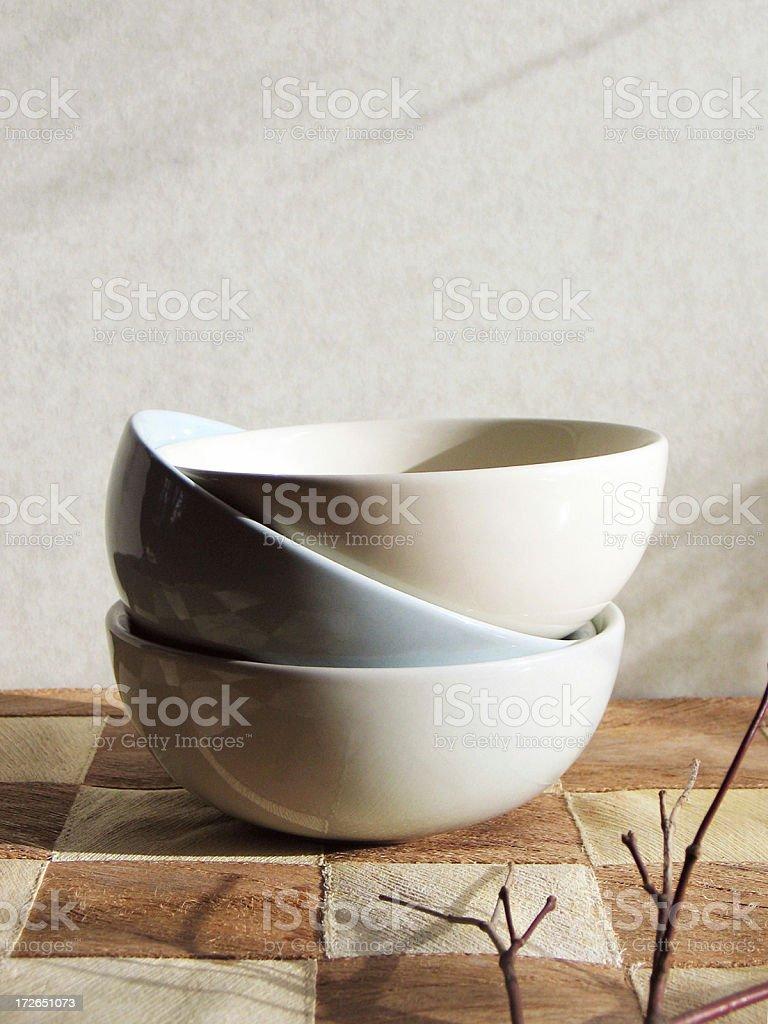 asian bowls royalty-free stock photo