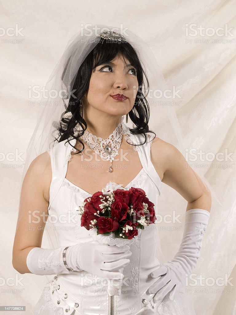 PVC Asian Bride - harumph stock photo