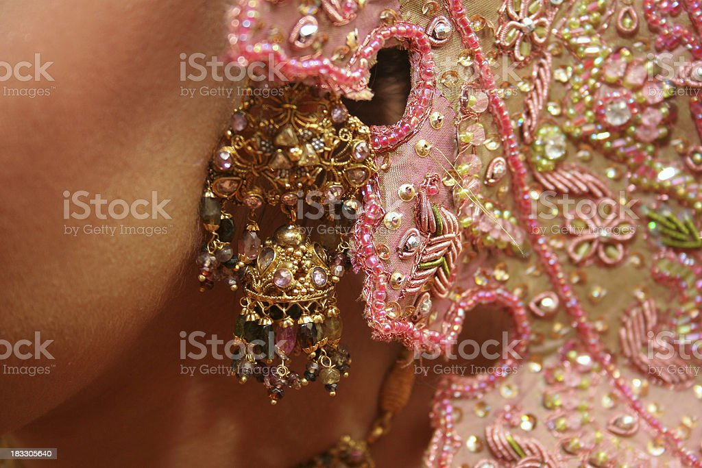 Asian Bride Jewels royalty-free stock photo