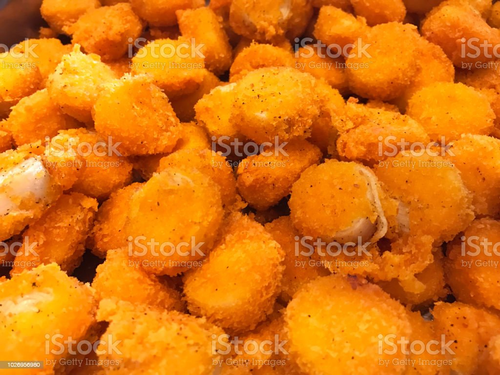 Asian Buffet Food Menu Delicious Deep Fried Scallop With Tartar Sauce Thai Seafood Restaurant Banquet Dish Concept Stock Photo Download Image Now Istock